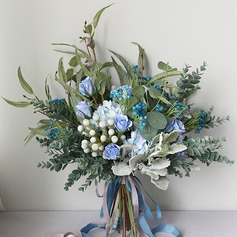 Nice Friform Silke Blomst Brude Buketter -