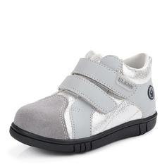 Misto Pelle microfibra Heel piatto Punta rotonda Sneakers Scarpe da Ginnastica & Atletica con Velcro