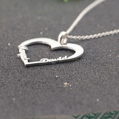 Personlig Damene ' Evig Kjærlighet 925 Sterling Sølv med Heart Navn Halskjeder Halskjeder Venner/Brudepike