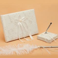 Elegante Falso pérola/Fitas Livro de visitas & conjunto de canetas