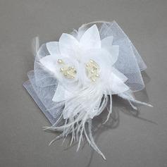 Красивая чистая пряжа/перья/шелковые цветы Комбс и заколки