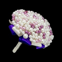 Iögonfallande Rund Venetianska Pärla/Oäkta Pearl Brud Buketter -
