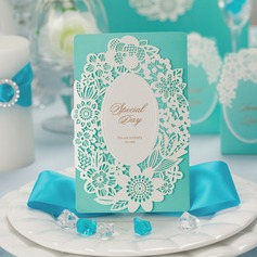 Blommig Stil Tri-Fold Invitation Cards (Sats om 50)