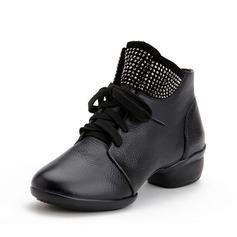 Женщины Натуральня кожа Танцевальные кроссовки Танцевальные Сапоги Обувь для танцев