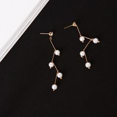 Unik Legering Fauxen Pärla Kvinnor Mode örhängen