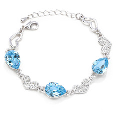 Ladies' Shining Alloy Rhinestone/Austrian Crystal Bracelets For Bride/For Bridesmaid