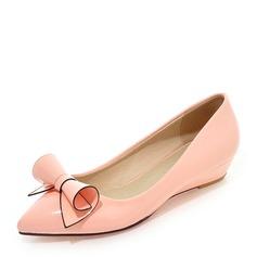 Vrouwen PU Wedge Heel Closed Toe Wedges met strik schoenen