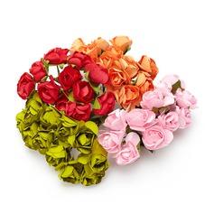 Söt Rose Papper Konstgjorda Blommor (sats om 24)