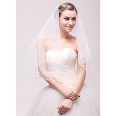 1 couche Bord en dentelle Voiles de mariée valse avec Broderie