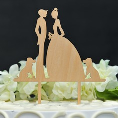 Dancing Couple/It Must Be Love Wood Cake Topper
