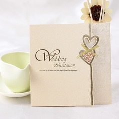 стиль сердца Z-Fold Invitation Cards (набор из 50)
