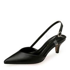 Mulheres Couro Salto agulha Sandálias Bombas Fechados com Rivet sapatos