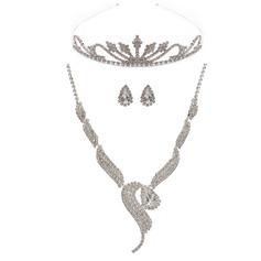 Elegant Legering med Strass Damer' Smycken Sets