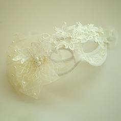Damer Vackra Och Fauxen Pärla/Netto garn/Spets Panna smycken/Hatt med Venetianska Pärla