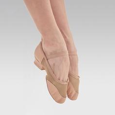Kvinner Microfiber Lær Flate sko Jazz Dansesko