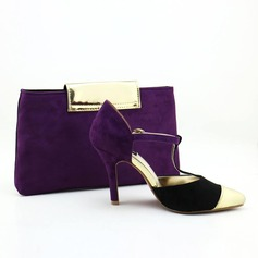 Attractive Autumn/Winter Velvet/PU Shoes & Matching Bags