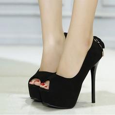 Ante Tacón stilettos Salón Plataforma Encaje con Bowknot zapatos