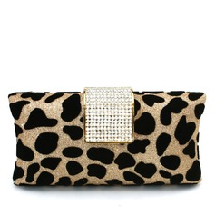 Fashional Velvet With Rhinestone Clutches
