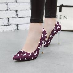Kvinnor Sammet Stilettklack Pumps med Andra skor