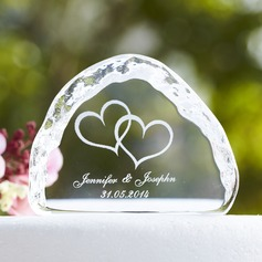 Personalized Love Design Crystal Cake Topper (118030225)