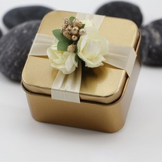Treasure Chest Metal Favor Boxes With Ribbons  (050141416)