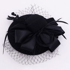 Dames Style Vintage Velours/Tulle Chapeaux de type fascinator/Chapeaux Tea Party