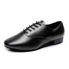 Hommes Vrai cuir Chaussures plates Tennis Latin Salle de bal Pratique Chaussures de Caractère Chaussures de danse