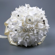 Hand-tied Satin Bridal Bouquets/Bridesmaid Bouquets (Sold in a single piece) - (123170908)