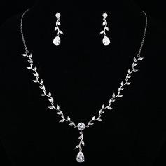 Classic Copper/Zircon Ladies' Jewelry Sets