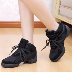 Women's Canvas Sneakers Practice With Lace-up Dance Shoes
