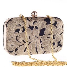 Elegant Polyester/Alloy Clutches/Totes
