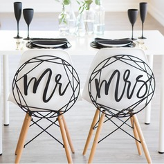 """Mr. & Mrs"" Elegant Træ Bryllup Sign"
