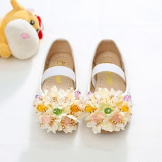 Flicka rund tå konstläder platt Heel Platta Skor / Fritidsskor Flower Girl Shoes med Strass