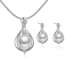 Gorgeous Silver Plated Ladies' Jewelry Sets (011068738)