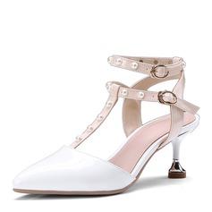 Vrouwen PU Spool Hak Sandalen Pumps Slingbacks met Klinknagel schoenen