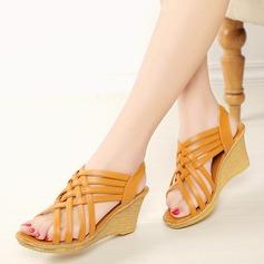 Kvinnor Konstläder Kilklack Sandaler Kilar Peep Toe Slingbacks med Andra skor