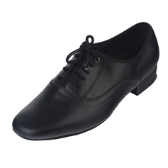 Men's Real Leather Heels Latin Modern Ballroom With Lace-up Dance Shoes (053060071)