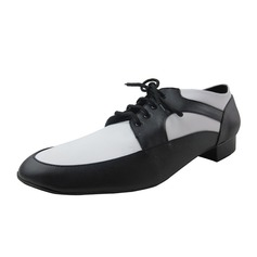 Мужская кожа На каблуках Бальные танцы с Шнуровка Обувь для танцев