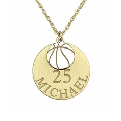 Personalizado Chapado en oro de 18 k Grabado / Grabado Circulo Collar con nombre Collar grabado - Regalos De Cumpleanos Regalos Del Día De La Madre (288209244)