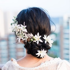 Дамы Специальный шелковые цветы Цветы и перья