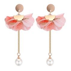 Mode Fauxen Pärla koppar Duk Damer' Mode örhängen