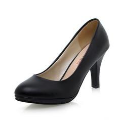 Frauen Kunstleder Spule Absatz Absatzschuhe Schuhe