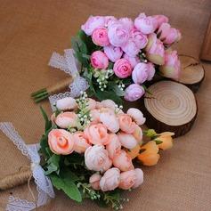 Maravilloso Forma libre Satén Ramos de novia (vendido en una sola pieza) - Ramos de novia