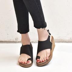 Femmes Similicuir Talon compensé Sandales chaussures