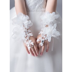 Lace With Crystal/Flower Wrist Length Glove (198163169)