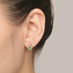 Ladies ' Wyjątkowy 925 Srebro/Rose Pozłacane Z Diament Kryształ Kolczyki Ją/Znajomi
