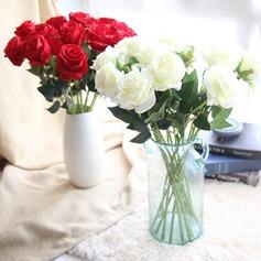"Simple/Classic/Beautiful ""Beautiful Flower"" Silk Flower Artificial Flowers (set of 4)"