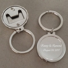 Personalized Round Stainless Steel/Zinc Alloy Keychains  (118120566)