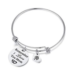 Custom Bangle Engraved Bracelets With Heart - Christmas Gifts For Her