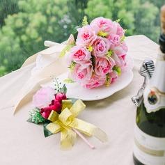 Atraente Redondo Cetim Conjuntos de flores